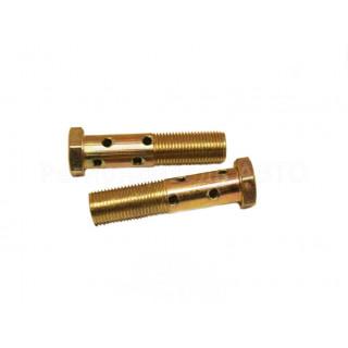 Болт топливный М14х1,5х65,5 под 2 трубки